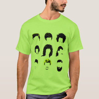 Camiseta Hairvolution - evolução dos penteados dos homens