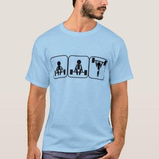 Camiseta Halterofilismo nos símbolos