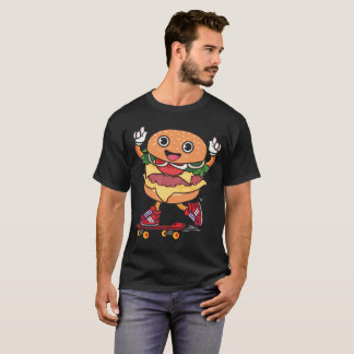 Camiseta Hamburguer do patinador