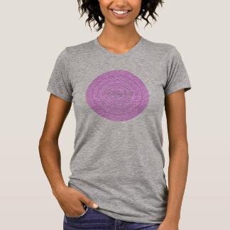 Camiseta HAMbyWG - círculo do Boho das mulheres no rosa