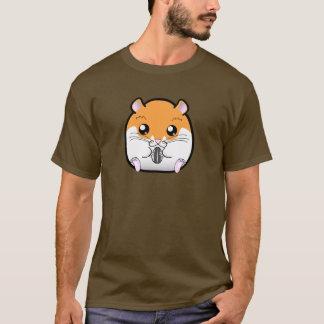 Camiseta Hamster branco alaranjado sírio regular