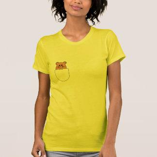 "Camiseta Hamster ""myham"" em seu t-shirt do bolso (2)"