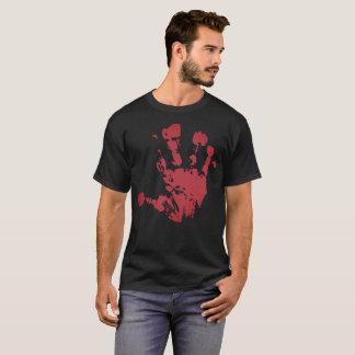 Camiseta Handprint sangrento ajuda-me t-shirt do Dia das