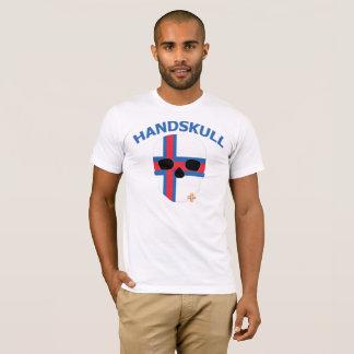 Camiseta HANDSKULL Faroe Island - luva curta branca básica