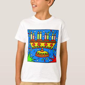 Camiseta Hanukkah brilhante Menorah
