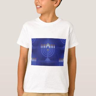 Camiseta hanukkah feliz azul