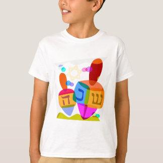 Camiseta Hanukkah feliz Dreidels brilhante
