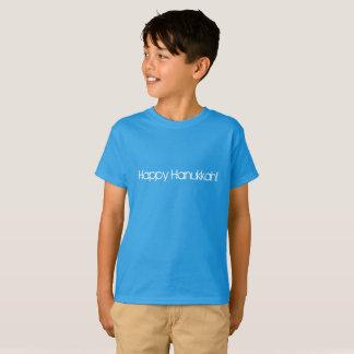 Camiseta Hanukkah feliz em letras modernas do estilo do