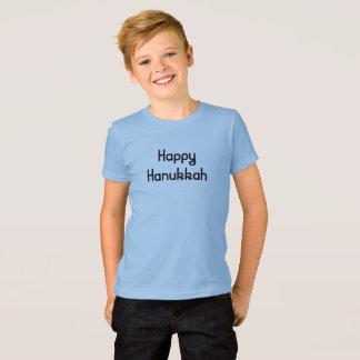 Camiseta Hanukkah feliz em letras retros do divertimento