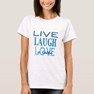 """Camiseta Hanukkah """"vive amor do riso t-shirt azul de um"""