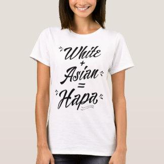 Camiseta Hapa, branco mais o asiático = o Hoodie de Hapa