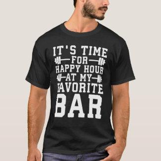 Camiseta Happy hour em meu bar favorito - Gym inspirado