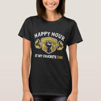 Camiseta Happy hour em meu bar favorito - rato do Gym