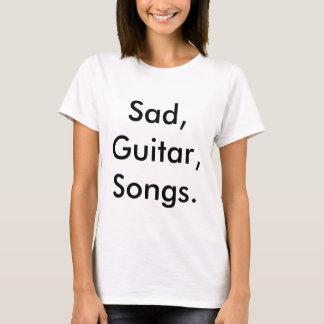 """Camiseta Harker mestre """"triste, guitarra, canções."""" T-shirt"""