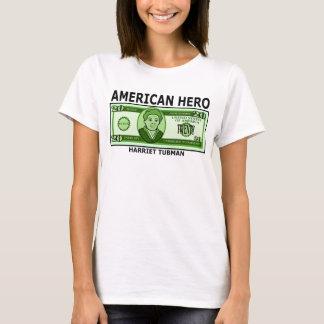 Camiseta Harriet Tubman na nota de dólar vinte