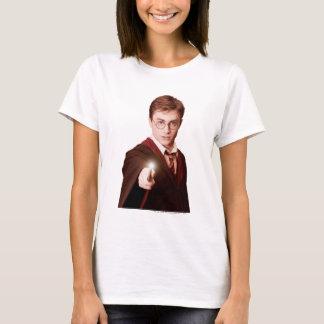 Camiseta Harry Potter aponta a varinha