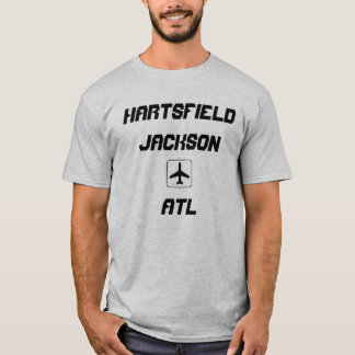 Camiseta Hartsfield Jackson código do aeroporto de Atlanta,