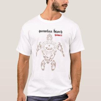 Camiseta HAVAÍ: Praia de Punaluu na tartaruga grande T da