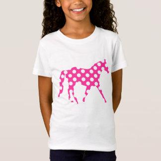 Camiseta Hawaiian bonito das bolinhas cor-de-rosa do cavalo