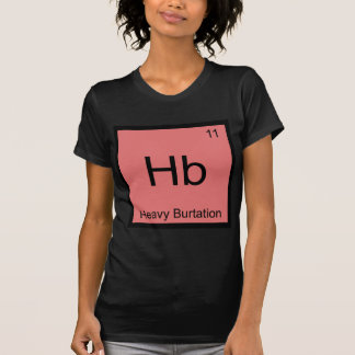 Camiseta HB - T pesado do símbolo do elemento da química de