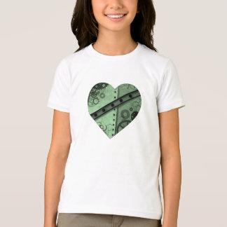 Camiseta Hea verde pálido e preto do dia dos namorados do