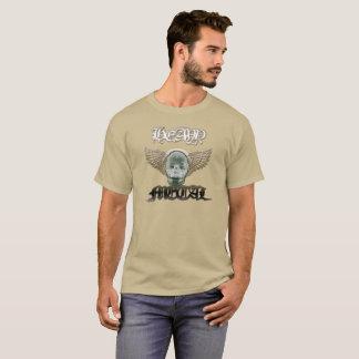 """Camiseta -Heavy """"Chili"""" Skate Shirt/cor de areia"""