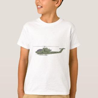Camiseta Helicóptero de Apache no perfil da vista lateral