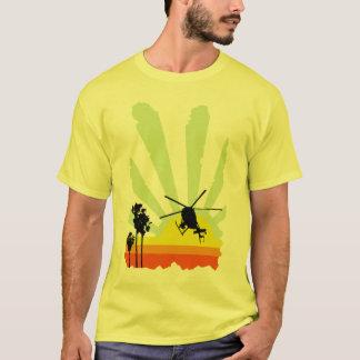 Camiseta Helicóptero e por do sol