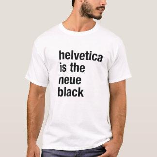 Camiseta Helvética é o preto do neue