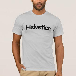 Camiseta Helvética (em cómico sem a pia batismal)