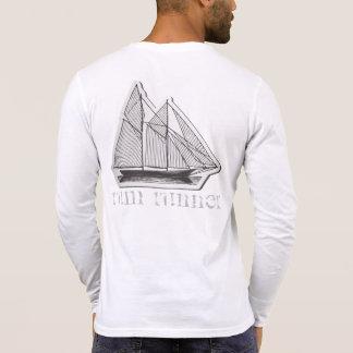 Camiseta henley do corredor do rum do HOMEM de
