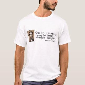 Camiseta Henry David Thoreau - simplifique, simplifique