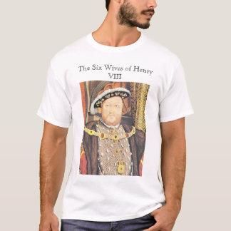 Camiseta Henry VIII, seis esposas de Henry VIII