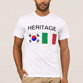 Camiseta Herança parcialmente coreana, parcialmente