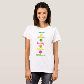 Camiseta Herbívoro humano saudável holístico humano
