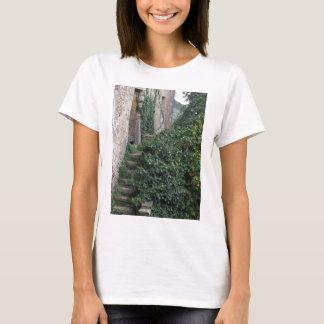 Camiseta Herdade abandonada velha do país nas madeiras