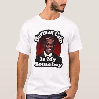 Camiseta Herman Cain é meu ficar em casa, estilo retro