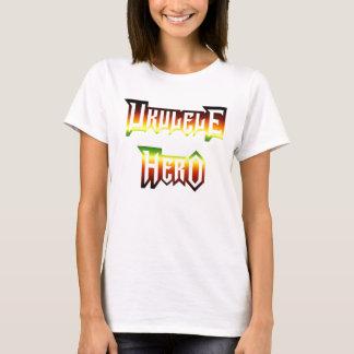 Camiseta Herói do Ukulele pela cinza