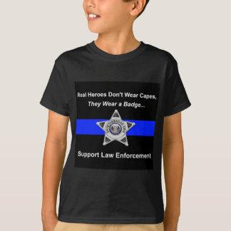 Camiseta Heróis da polícia do apoio