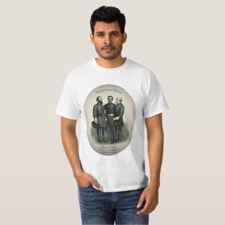 Camiseta Heróis Stonewall Beauregard Lee da guerra civil