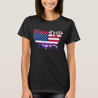 """Camiseta Hetalia América """"EU SOU t-shirt do HERÓI"""""""