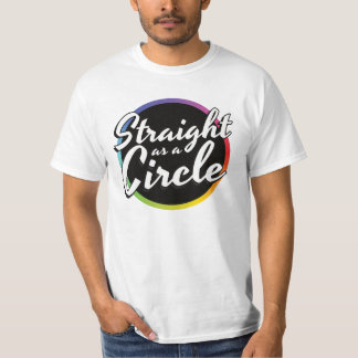 Camiseta Hetero como um círculo