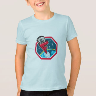 Camiseta Hexágono de sopro do espaço do impulsionador de