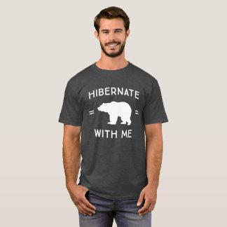 Camiseta Hibernate comigo o humor flirty do divertimento