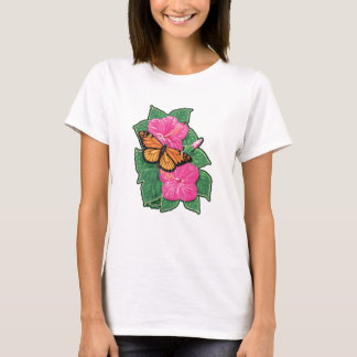Camiseta Hibiscus & borboleta