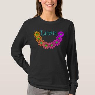 Camiseta Hibiscus floral de Luau dos leus coloridos do