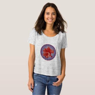 Camiseta Hibiscus legal estrela empoeirada no fundo enchido