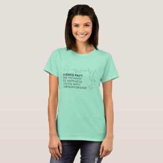 Camiseta Hidratos de carbono: O trajeto ao T das senhoras