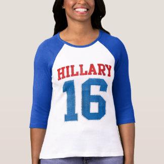 Camiseta Hillary 2016, jérsei de basebol do time do colégio