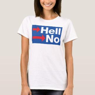 Camiseta Hillary Clinton curvada não - Anti-Hillary